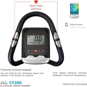JLL CT300 luxury home cross trainer